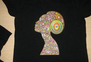 Чорна футболка з друку зразка A2 принтер T-shirt WER-D4880T